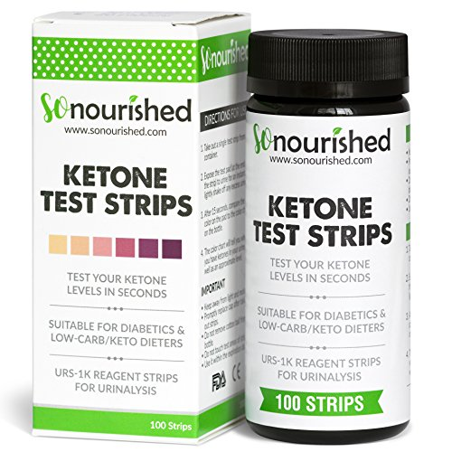 Urine Ketone Strips - Ketosis Strips & Diabetic Test Strips. Ketosis Test with Keto Strips Kit Takes Only 15 Seconds! 100 Keto Sticks.