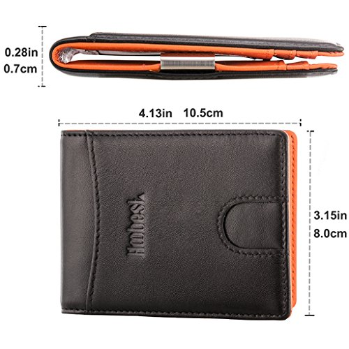 RFID SIim Wallet with Money Clip RFID Blocking Wallet   Credit Card Holder   Minimalist Mini Wallet Bifold for Men with Gift Box