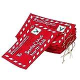 TOYANDONA - 12 sobres de Santa Claus para tarjetas de felicitación, sobres de árbol de Navidad, decoración para el hogar