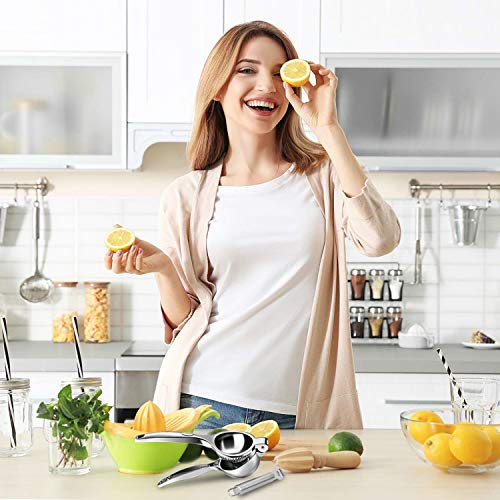 Spremiagrumi Limone Manuale- Spremi Limone Succo di Limone Pressa Agrumi per Limone Squeezer Lime Manuale , per juicing Arancio e altri frutti senza Hull, comprende grattugia per la scorza di limone