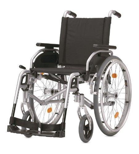 Rollstuhl PYRO START plus+ silber SB 43 cm TrBr