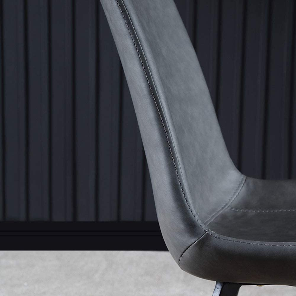 JFFFFWI Chaise de Salle à Manger avec Pieds en métal sans accoudoirs, imperméable et antifouling, chaises d'appoint de Salon, Salle à Manger, hôtel, Bar (Lot de 2) A