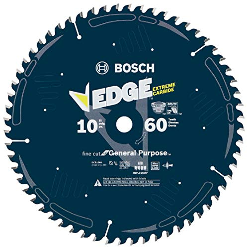 Bosch DCB1060 Daredevil 10-Inch 60-Tooth Fine Finish...
