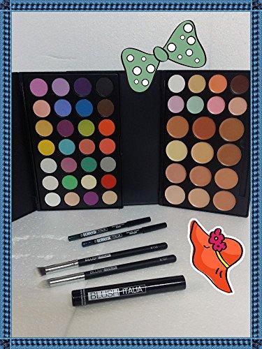 Blush Italie Make Up Palette Platinum Paupières/teint pinceaux Mascara crayons