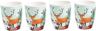 Chumbak Gleeful Deer Mugs Gift Set - Teal