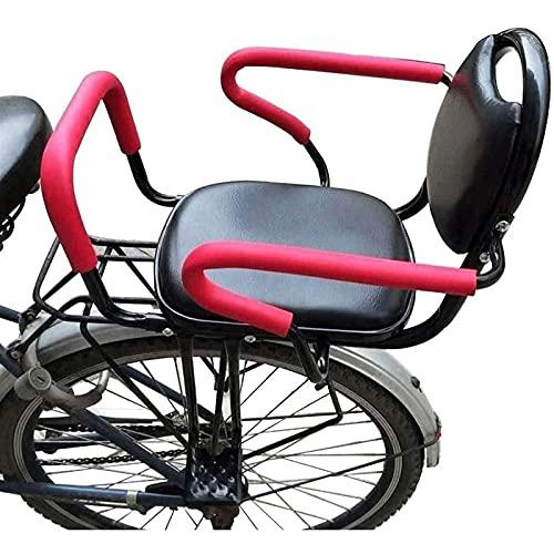 Asiento de bicicleta montado en la parte trasera, marco de bicicleta para niños, asiento de marco para niños al aire libre para niños para niños de 2 a 8 años de edad, fácil de instalar accesorios par