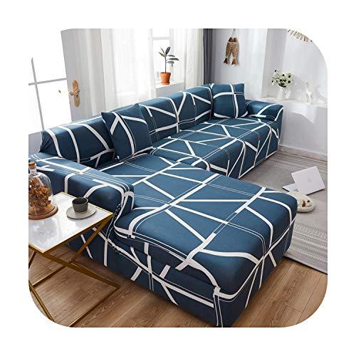 Funda de sofá para Sala de estar Stretch Sofá Slipcover Funda de Sillón Protector de Muebles Poliéster Sofá Cubierta Seccional L Forma 20-3 asientos 190-230cm