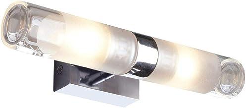 Moderne decoratieve IP21 badkamerlamp G9 chroom aluminium