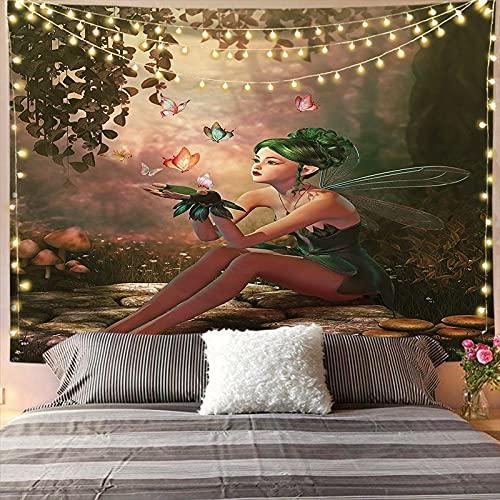 YDyun Tapiz,Cubrecama, Cubre sofá, Mantel, Pareo, Tela Colgante decoración árbol mar Silueta impresión