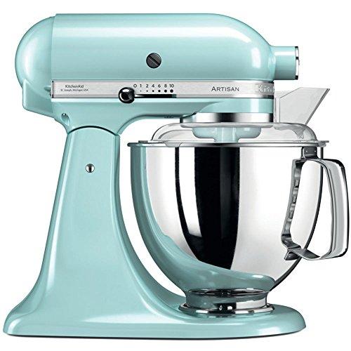 KitchenAid Artisan - Robot de cocina (4,8 L, Azul, palanca,