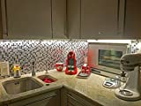 infactory 3D Fliesenaufkleber Bad: Selbstklebende 3D-Mosaik-Fliesenaufkleber Dezent 26 x 26 cm, 3er-Set (Selbstklebende Mosaik Folie) - 8