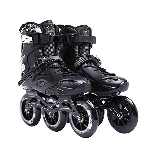 Patines En Línea para Adultos Full Flash Zapatos Lisos Patines para Damas Neumáticos De Alta Elasticidad Resistentes Al Desgaste Patines En Línea Malla Transpirable para Niños Forro Extraíble Princi