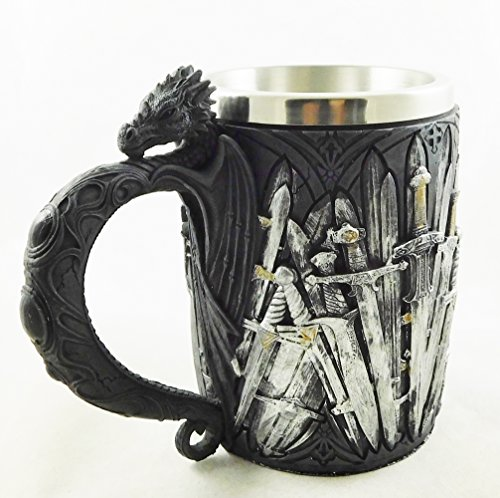 Game of Thrones Zwaarden Draak Tankard Middeleeuwse Zwaard Legends Drinkbeker Goblet | 1940