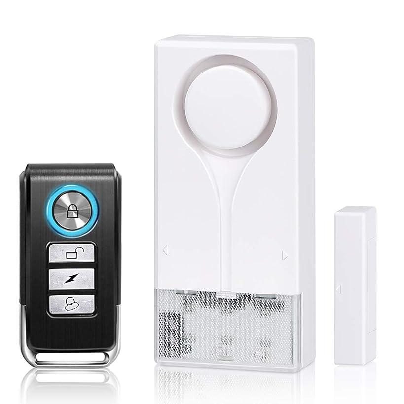 Wsdcam Remote Door Alarm with Security Strobe Light, Door and Window Alarms Sensors for Home Security Kids Safety, Wireless Siren Strobe Alarm for Windows and Doors