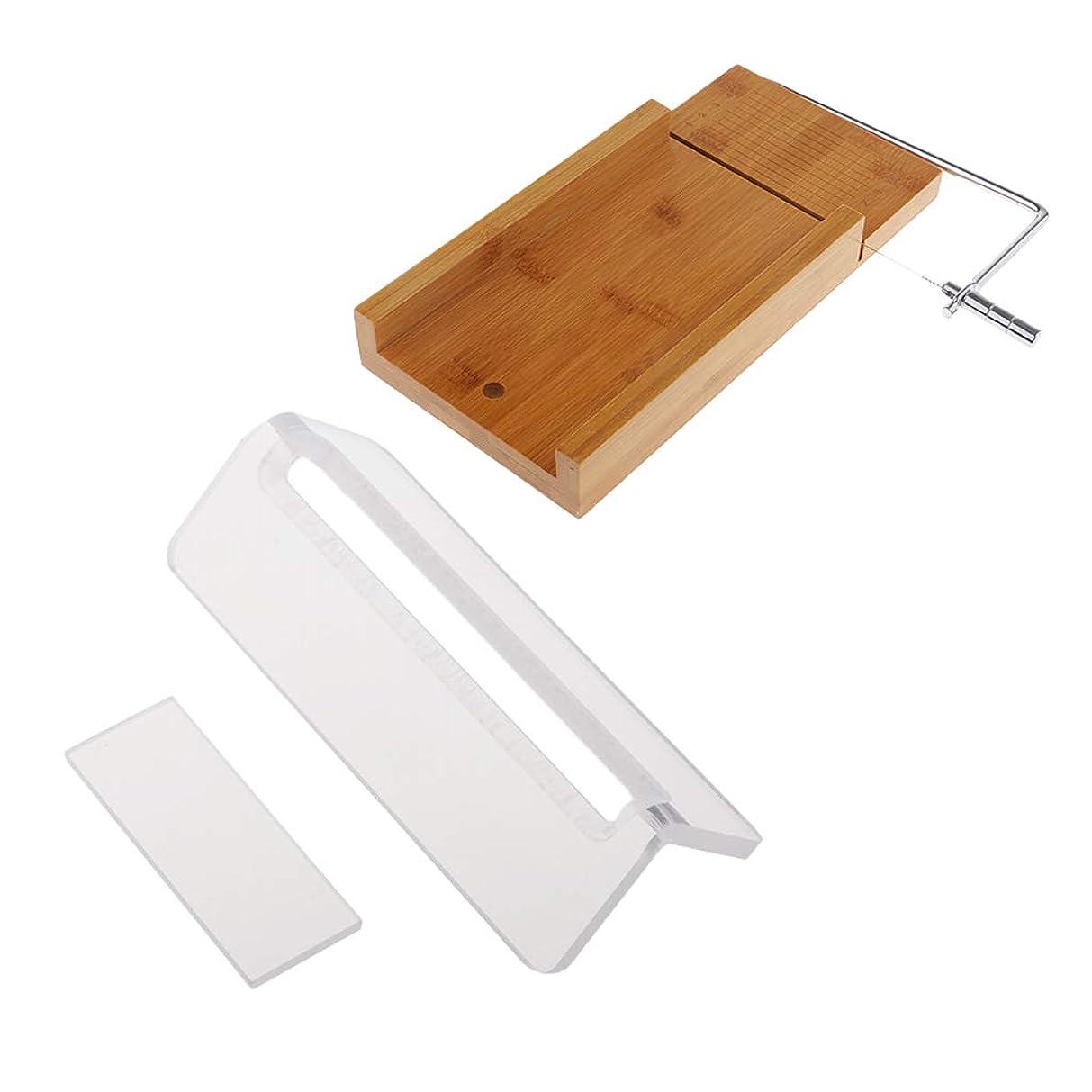 寺院低下プーノFLAMEER ローフカッター 木製 ソープ包丁 石鹸カッター 手作り石鹸 DIY キッチン用品 2個入り