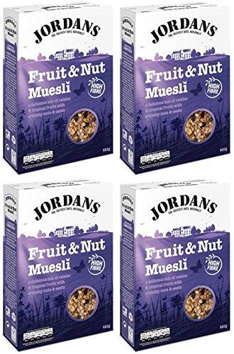 (4 PACK) – Jordans Muesli – Fruit & Nut| 600 g |4 PACK – SUPER SAVER – SAVE MONEY