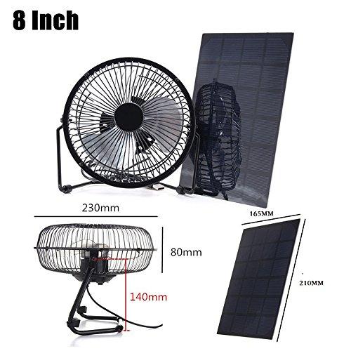 NUZAMAS solar-8inch-fan-5.2w-6v