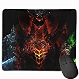 World of Warcraft Mouse Pad Rectangle Customized Game Mouse Mat Non-Slip Sewn Edge Mouse Pads for Laptops Computers Desks (11.8 in X 9.8 in)