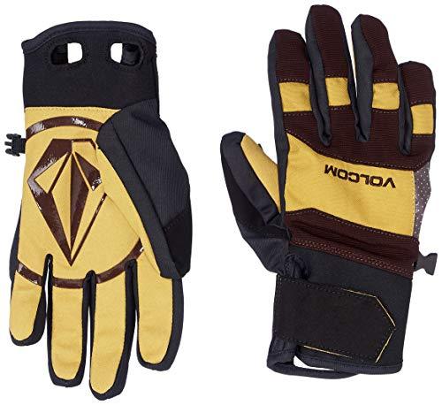 Volcom Men's Crail Waterproof Velcro Cinch Snow Glove, Resin Gold, Small
