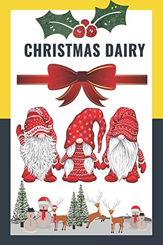Composition Notebook Dairy: 3 Nordic Christmas Gnome Womens Costume Swedish Tomte Cute Elves Journal/Notebook Blank Lined Ruled 6x9 110 Pages Matte Cover  &  Minimalist