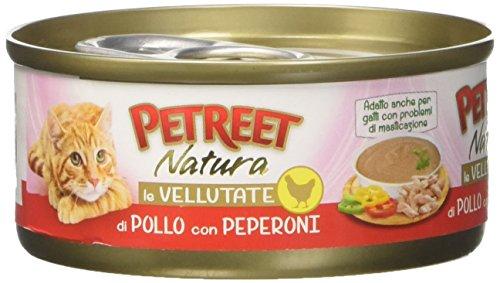 PETREET Vellutate Pollo con Peperoni - Confez. da 24 Pezzi x 70 gr
