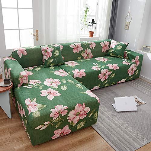 PPMP Muebles de Sala de Estar Funda de sofá de poliéster elástico Funda Protectora Funda de sofá sillón Funda de sofá A13 4 plazas