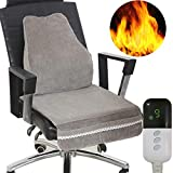 Dedeka Heated Seat Cushion with Intelligent Temperature Controller,Heating Cushion, Memory Foam Chair Pad with...