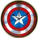 ティーズ 掛け時計 マーベル インデックスウォールクロック キャプテンアメリカシールド MV-5520124CC
