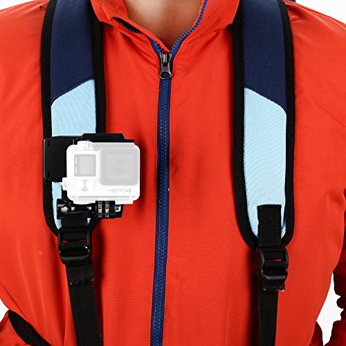 Sametop Backpack Strap Mount Quick Clip Mount Compatible with Gopro Hero 9, 8, 7, 6, 5, 4, Session, 3+, 3, 2, 1, Hero (2018), Fusion, DJI Osmo, Xiaomi Yi Action Cameras