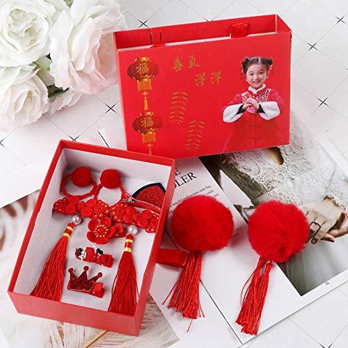 Princess Hair Card Chinese New Year Gift Headband Retro Style