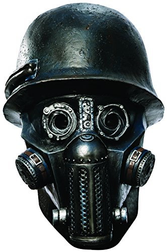 Rubie's Men's Sucker Punch Gas Mask Zombie Deluxe Overhead Mask, Black, One Size