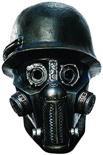 Rubie's Men's Sucker Punch Gas Mask Zombie Deluxe Overhead Mask, Black, One Size