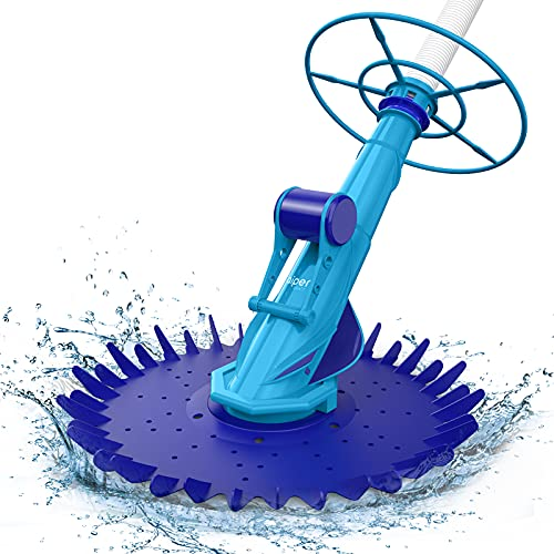 above ground pool vacuums AIPER SMART Suction Pool Vacuum Cleaner, Climb Wall Suction-Side Cleaner Automatic Pool Sweeper Kreepy Krawly for In-ground Swimming Pools with 20 Hoses Up to 32feet
