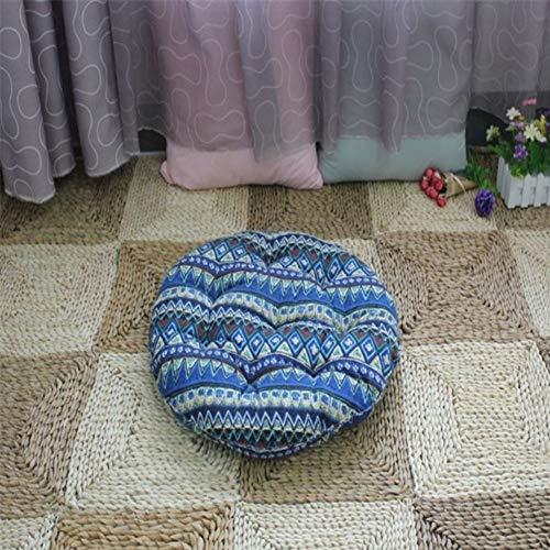 LoveHouse Mandala bohemian yoga meditation Floor pillow Seating cushion, Round Chair cushion for dinning patio home car office-blue 68cm(27inch)