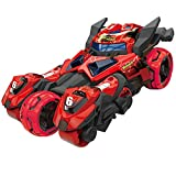 Pull Back Cars Toys, Pull Back Vehicles Motorcycle Launcher Toy Die-cast 3 in 1 Catapult Race Trinity Chariot (Red)