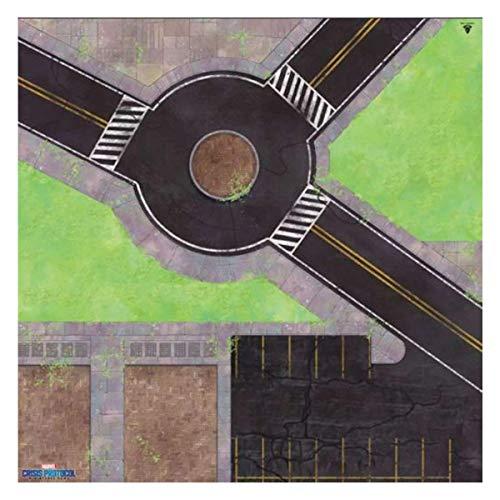 Atomic Mass Games - Marvel Crisis Protocol: Accesorio: Roundabout Knockout Juego Mat - Juego en Miniatura