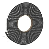 Frost King V212GH Vinyl Foam Self-Stick Tape, Moderate Compression, 3/8' Wide x 3/16' Tall x 17 ft. Long, Charcoal