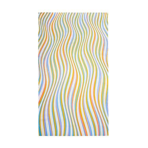 Surwin Grande Toalla de Playa de Microfibra Toalla Impresión de Raya Secado Rápido Natación Toalla de Arena Antiadherente para Playa, Piscina, Verano (Ondas de Color,80x160cm)