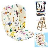 Kinderwagen Sitzkissen,Baby Hochstuhl Sitzkissen/Kissen,Cute Muster Baby Hochstuhl Kissen Pad Matte Atmungsaktiv Safety First Kinderwagen Auflage Seat Liner(Giraffe)