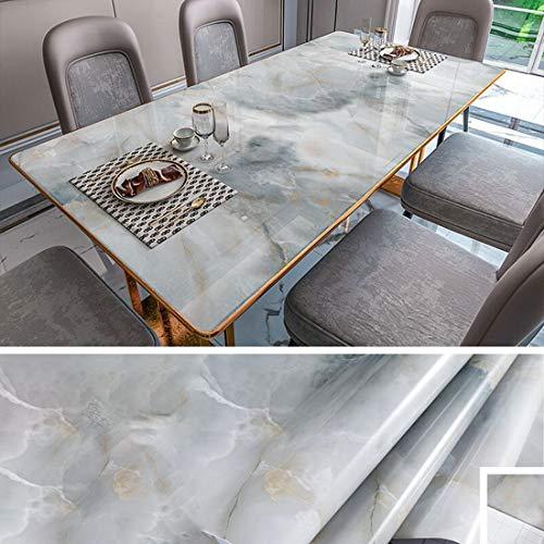 Cysincos Marmor Folie Selbstklebende Möbelfolie Marmor Folie Klebefolie Vinyl Wasserdicht Dekorfolie Fensteraufkleber PVC Aufkleber Tapete für Möbel Küche Küchenschrank Granit(#36,60cm x 1m)