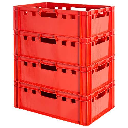 4 Stück E2 Fleischkisten Rot Kisten...