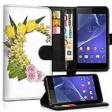 Book Style Wiko Wax Premium PU-Leder Tasche Flip Brieftasche Handy Hülle Kartenfächer mit Standfunktion für Wiko Wax - Design Flip MVC83