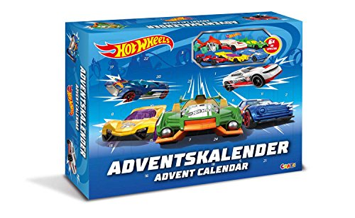 CRAZE 13908 Hot Wheels – Calendario de Adviento, con Juguete, Coches, Pegatinas