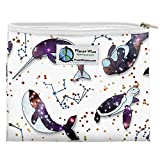 Planet Wise Reusable Zipper Sandwich and Snack Bags, Sandwich, Celestial Sea Poly