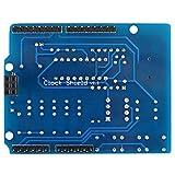 hgbygvuy Clock Shield RTC DS1307 Modulo Modulo Multifunzione Scheda di espansione con Display a 4 cifre Sensore Facile e termistore S