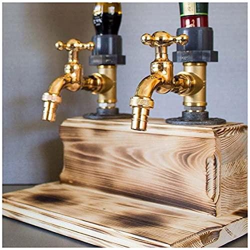 WSZYBAY Whisky Fuentes de Bebidas de Madera, Whisky Bebiendo Fuentes en el hogar Barras, Barras de Grifo, Formas de Estaciones de Bebidas, Alcohol de Licor Whisky Fuentes de Agua Potable,
