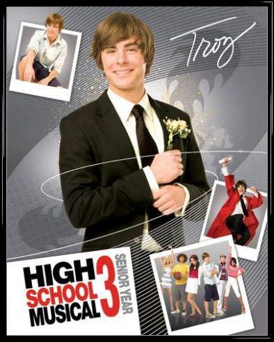 1art1 High School Musical Póster Mini con Marco (Plástico) - 3, Troy (50 x 40cm)