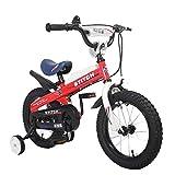 FUFU Niños Bici 2 Colores, 12 Pulgadas, 14 Pulgadas, 16 Pulgadas, con Estabilizador, Guardabarros Y El Soporte, 2-8 Años (Color : Red, Size : 16in)