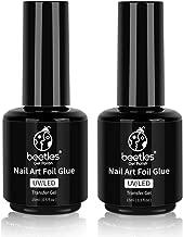 Beetles Nail Art Foil Glue Gel for Foil Stickers Nail Glue Transfer Tips Star Glues Nail Art Manicure DIY UV LED Lamp Required Soak Off 15ML 2 Bottle