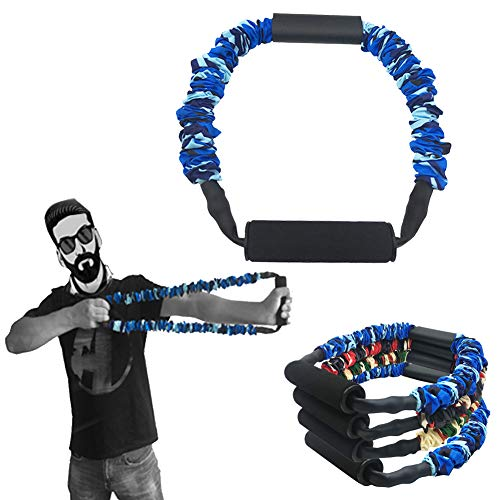 FOSER Archery Band Open Bow Resistance Trainer Arm Strength Training Bow Training Tensioner Archery Fitness Machine (50LBs)